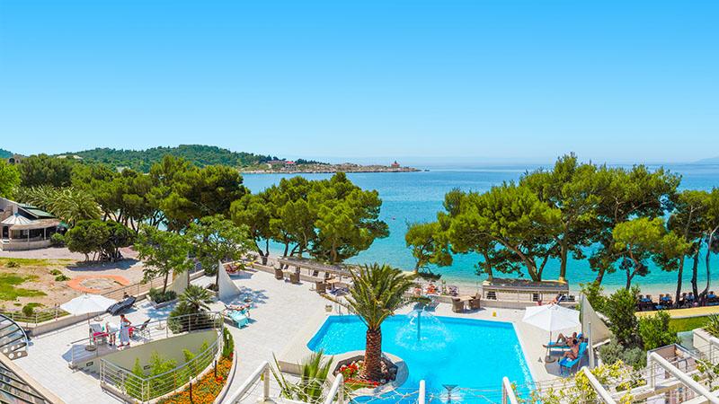 Vacker utsikt rån Hotell Park i Makarska, Kroatien