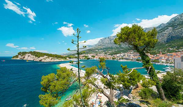 utsikt över makarska riviera i Kroatien